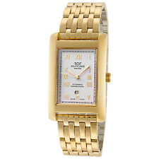 Glycine Unisex 3786.24R.MB Rectangolo Automatic 32mm Gold Plated Watch