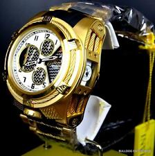 Invicta Reserve Bolt Zeus Tria Twisted Metal Gold Chronograph Swiss Watch New