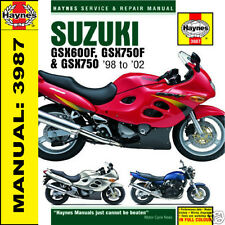 Suzuki GSX600 GSX750 GSX750F 1998-2002 Haynes Manual 3987 NEW