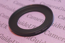 37mm to 52mm Male-Female Stepping Step Up Filter Ring Adapter 37mm-52mm UK