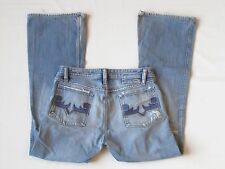 Diesel jeans Zaf 32 x 34 blue bootcut boot leg distressed meas 34.0 x 32.0 Italy
