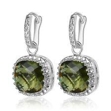 Amazing   Green Kunzite  dangle  earrings  925 silver