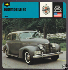 1939 OLDSMOBILE 60 SIXTY OLDS Car Picture History CARD