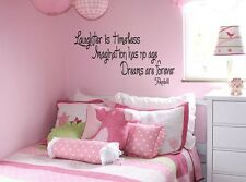 "TINKERBELL QUOTE Vinyl Wall Decal Words Lettering Quote Saying Sticky 12"" x 36"""