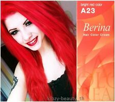 Berina A23 Bright Red Hair Cream Color Permanent Super Hair Dye Unisex
