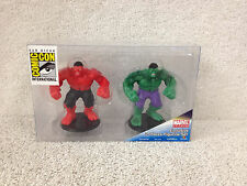 GREEN Hulk & RED Hulk Exclusive Marvel Universe SDCC Comic Con Figurine Set