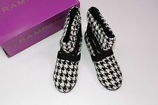 Rampage Houndstooth Black Boots Size 6 NEW Shoes Women's Ankle ALABAMA Hounds