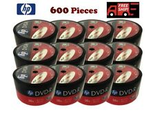 600 Pack HP Brand Logo Blank 16x DVD-R DVDR Recordable Disc Media Wholesale Lot