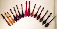 15 Antique Lace Bobbins Turned Wood Lacemaker Tools 1800s Varied