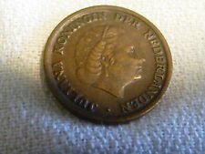 1954  Netherlands One 1 Cent Juliana Koningin Der Nederlanden coin