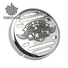 Silver Eagle Pattern Chrome Horn Cover for Yamaha V-Star 650 1100 Classic Custom