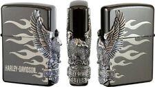 Zippo Lighter Harley Davidson Japan LTD Edition Side Metal Model Black HDP-02