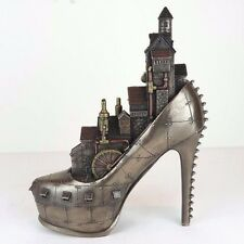 "Steampunk Stiletto Hill Ironopolis Shoe City Bronze Figurine Miniature 10""H New"