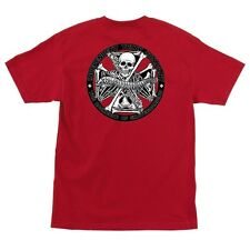 Independent Trucks BACKBONE Skateboard T Shirt RED LARGE