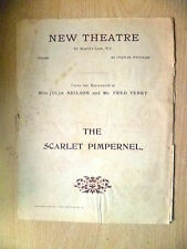 New Theatre Programme- THE SCARLET PIMPERNEL by Orczy Barstow