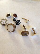 Lot of Antique Vintage Shirt Stud Buttons Mens Cufflinks Jewelry Accessories