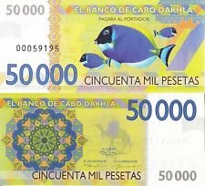 Cabo Dakhla 50000 pesetas 2013 UNC Clownfish Anemonefish - Private Issue