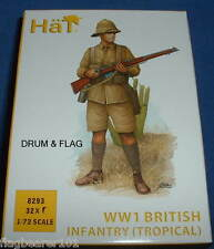 HAT 8293 - WW1 BRITISH INFANTRY (TROPICAL UNIFORM) - 1/72 SCALE PLASTIC