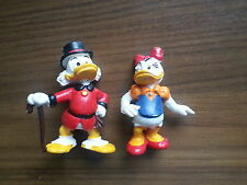 Ältere Bully Walt Disney Figuren - Dagobert Duck + Daisy Duck