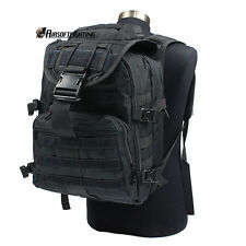 40L Molle Tactical Outdoor Military Assault Backpack Camping Hiking Bag Black