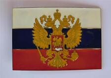RUSSIA FEDERATION RUSSIAN SOVIET FLAG PATRIOTIC EAGLES COUNTRY BELT BUCKLE