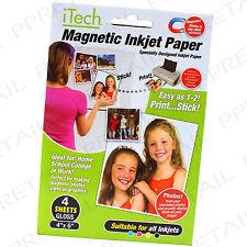4x MAGNETIC GLOSS PAPER ★FOR ALL INKJET PRINTERS★ Fridge Card Wedding Photo Gift