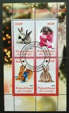 Tiere Wildtiere Hase Rabbits Animals Fauna Congo 2011 KB Sheet