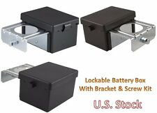 Battery Lockable Box Case Trays Protects Study Bracket Screw Kit Car Marine RV