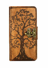 Tree of Life Decor Samsung Galaxy S6 Case Handmade Vintage Genuine Leather Cover