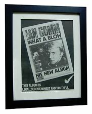 IAN GOMM+What A Blow+POSTER+AD+RARE ORIGINAL 1980+QUALITY FRAMED+FAST WORLD SHIP