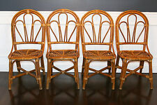Vintage Mid Century/ Hollywood Regency Bamboo Rattan Wicker Bentwood Chairs