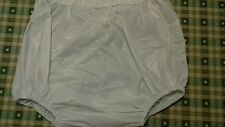 Adult baby soft white vinyl  pants/nappy covers