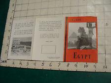 GREAT VINTAGE  brochure: VISIT EGYPT 1954 creased a bit