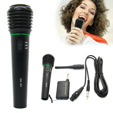Wired & Wireless Karaoke Handheld Microphone Mic Receiver System Undirectional