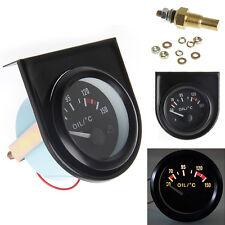 "Universal 2"" 52mm LED Light Car Pointer Oil Temperature Temp Gauge 50-150℃"