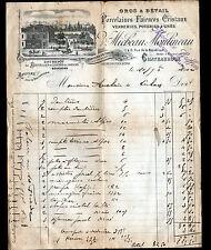 """CHATEAUROUX (36) PORCELAINE CRISTAL FAIENCE """"Vve MICHEAU & MOULINEAU"""" en 1902"""