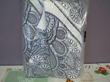 Pottery Barn Cassidy Medallion Full Queen Blue Duvet Cover NEW