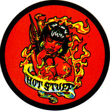 HOT STUFF DEVIL GIRL PIN UP MODEL LOW BROW ART PSYCHOBILLY GLOSSY DECAL STICKER