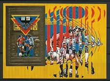 Centrafrique Sport Coupe Monde Football Fifa World Cup ** 1982 Bloc Or Gold Foil