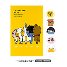 THEFACESHOP x KAKAO FRIENDS Character Face Mask Sheet Set Korean Cosmetics (5ea)