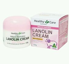2× Healthy Care All Natural Lanolin Cream with Vitamin E 100 g - OzHealthExperts