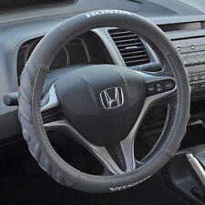 Gray Cushion Grip Synth Leather Steering Wheel Cover for Honda Civic 2006-2015