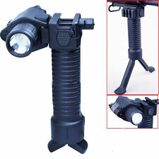 Tactical Rifle Foldable Foregrip Bipod + Red Laser Sight&CREE LED Flashlight 61