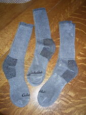 CABELA'S MERINO WOOL GREY SOCKS   NWT 3 PACK MENS 10-13 NEW SUPER COMFY!!