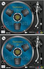COPPIA (2) Ltd. ed TECHNICS Japan Mulinello a bobina rs-1700 DJ FELTRO SLIPMAT Blu