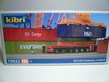 Kibri-Walthers HO P&O-NedLloyd 40' Rib Intermodal CONTAINERS ONLY (6 pcs) 10922