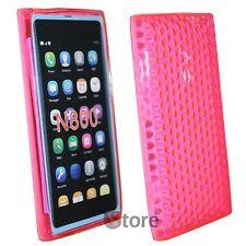 Cover Custodia Per Nokia Lumia 800 Fucsia Silicone Gel TPU + Pellicola Display