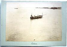 PHOTO 1896 CATANE SICILE ITALIE LE PORT BATEAU DE PECHEURS CATANIA ITALIA j112