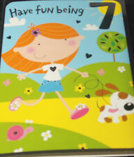 Girls 7th Birthday Card by Selective cards. 30 available.