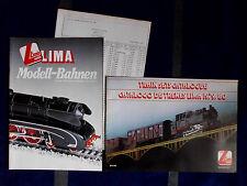 LIMA Modell - Bahnen 1984/85 , und 1979/80 , H0 / N Spur  Eisenbahn Kataloge ��